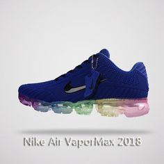 size 40 6958b 30bff Nike Air Vapormax 2018 Men Running Shoes Blue Colorful Running Sneakers,  Running Shoes For Men