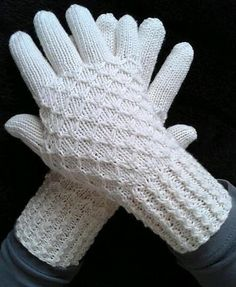 Mock Honeycomb Mittens and Gloves with Wave Rib Cuffs by Rahymah BintMichael