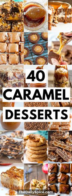 The best caramel dessert recipes that are both easy to make and delightful to eat. These caramel desserts are all sorts of sticky and chewy indulgence. Includes yummy salted caramel recipes too! desserts 40 Caramel Dessert Recipes: Sticky And Chewy Treats Köstliche Desserts, Delicious Desserts, Carmel Desserts Easy, Easy Cheap Desserts, Salted Caramel Desserts, Easy Smoothie Recipes, Snack Recipes, The Best Dessert Recipes, Quick Dessert