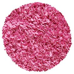 Found it at Wayfair - Hand-Woven Bubble Gum Area Rug