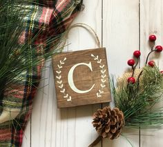 Monogram Christmas ornament, monogrammed Christmas ornament, personalized Christmas ornaments, rustic Christmas ornaments, rustic Christmas tree ornaments, wooden Christmas ornaments, wood Christmas ornaments, personalized Christmas tree ornament, rustic Christmas decor, farmhouse Christmas, farmhouse Christmas decor, farmhouse Christmas ornaments