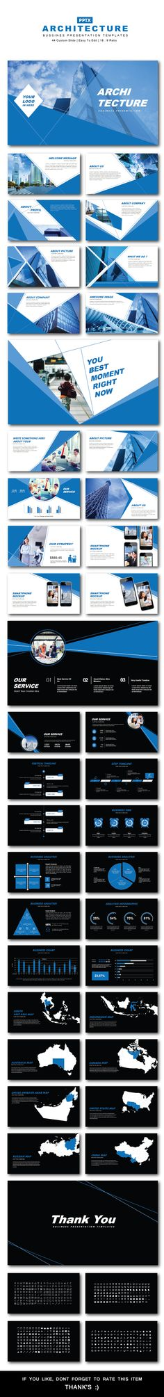 Architecture Bussines PowerPoint Templates