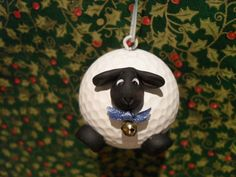 Upcycled Golf Ball Fat Sheep Ornament by Suzyscreations2 on Etsy, $7.00