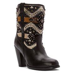 Frye Women's Jenny Short Black Multi Fabric/Smooth Vintag...
