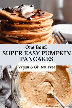 Incredibly easy and fluffy vegan pumpkin pancakes that make for the perfect healthy fall breakfast! Ready in under 10 minutes and full of pumpkin spice, these are the best pumpkin pancakes hands down! Sweet Potato Pancakes Vegan, Vegan Pumpkin Pancakes, Paleo Sweet Potato, Homemade Pumpkin Puree, Pumpkin Recipes, Pumpkin Spice, Fall Recipes, Vegan Pancake Recipes, Healthy Breakfast Recipes