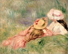 Pierre-Auguste Renoir - Young Girls on the River Bank