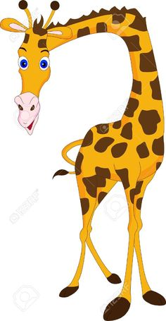 Stock Vector | giraffes | Giraffe drawing, Giraffe ...