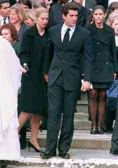 Michael Kennedy's funeral  John was so handsome! I miss seeing him!