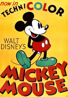 vintage mickey mouse theme and color...