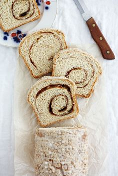 eggnog cinnamon swirl bread by girlversusdough, via Flickr