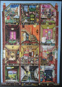 A 1000 piece Wentworth jigsaw that was great fun to do! On loan right now, but I believe it's called 'Our House'.