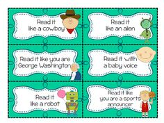 A fun way to increase fluency is to have the student reread the story but in different voices. Repeated reading is a great way to increase fluency.