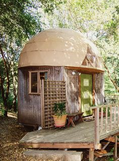 Stay in a Mushroom Dome Home? Yes please!
