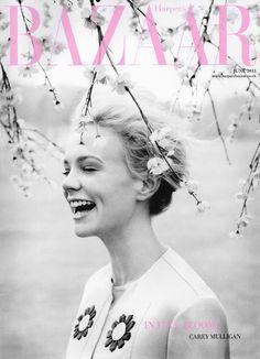 Carey Mulligan for Harper's Bazaar, June 2013 | Magazine Cover: Graphic Design, Typography, Photography | Photo: Tom Allen |