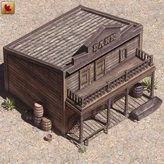 bank western old model Forte Apache, Westerns, Old Western Towns, Old West Saloon, Old West Town, Ho Scale Buildings, Charles Town, Western Theme, Model Train Layouts