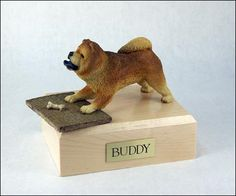 Chow Chow, Red TR200-1548 Figurine Urn