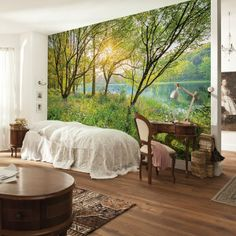 Brewster Home Fashions Spring Lake Wall Mural Poster Xxl, Cherry Blossom Wallpaper, Basement House, Spring Lake, Photo Wallpaper, National Geographic, Wall Murals, Wall Art, Rum