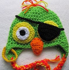 Pirate bird hat! Aiden!