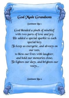 Quotes and Sayings About Grand Sons | Love My Grandson Quotes | daughter, son, niece, nephew, grandson ...
