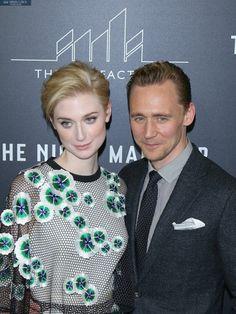 Elizabeth Debicki and Tom Hiddleston attends the premiere of AMC's The Night…