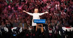 June 8, 2016 DOUG MILLS/THE NEW YORK TIMES Hillary Clinton spoke Tuesday night at the Brooklyn Navy Yard after beating Senator Bernie Sanders in the New Jersey primary