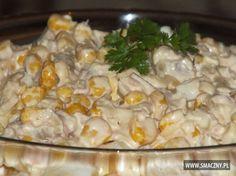 Sałatka z tuńczyka i ananasa Grains, Food And Drink, Rice, Chicken, Vegetables, Pineapple, Salads, Vegetable Recipes, Veggies