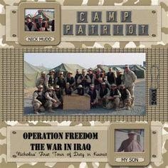 military scrapbooking layouts | Scrapbook-Bytes | Digital Scrapbooking Forum