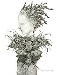 Phantom Limb by Richard A. Kirk, ink on paper, 2013