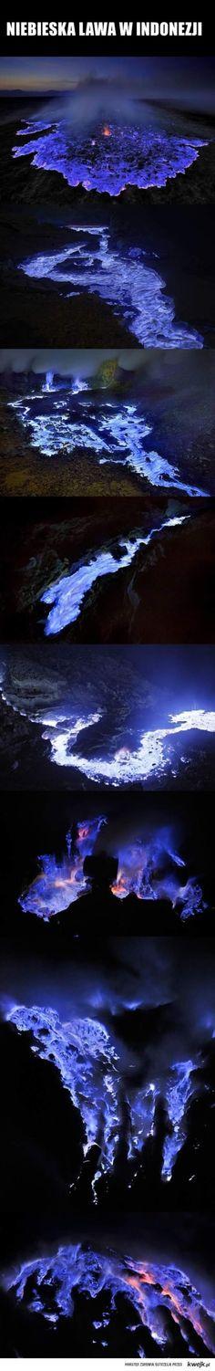 blue lava in Indonesia