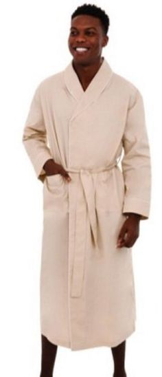 details about men's lightweight full length bathrobe pool beach