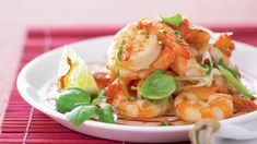 Recipes+ shows you how to make this spicy thai prawns recipe. Thai Prawn Recipes, Fish Recipes, Seafood Recipes, New Recipes, Cooking Recipes, Healthy Recipes, Healthy Food, Recipies, Fish Dishes