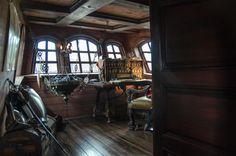 Inside the Captain's cabin