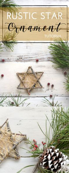 Make this golden rustic start using twigs from outside!! Your kids will love this!