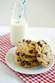 Peanut Butter Chocolate Chip Cookies #cookies