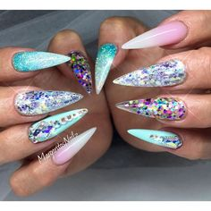 Summer stiletto nails 2016 nail art
