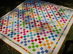 nine patch quilt - like the border