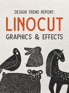Design Trend Report: Linocut Graphics and Effects - Design Effects Graphics Linocut report trend 52002570686437829 Stamp Printing, Screen Printing, Stencil, Stamp Carving, Linoprint, Art Graphique, Tampons, Linocut Prints, Grafik Design