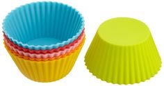 Casabella 3-Inch Standard Baking Cups, Set of 6, Assorted Colors * You can get additional details at : Baking pans