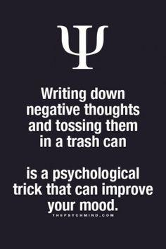 *m. Trashing negative thoughts