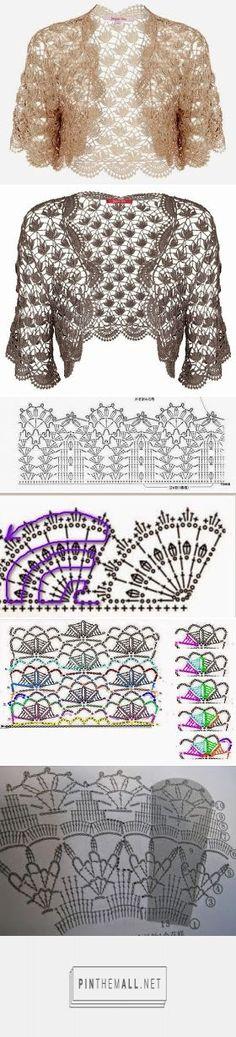 ergahandmade: Crochet Bolero + Diagrams - created via https://pinthemall.net  https://ergahandmade.blogspot.gr/2016/04/crochet-bolero-diagrams.html?m=1