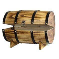 Loon Peak Wooden Wine Barrel Treasure Chest & Reviews | Wayfair