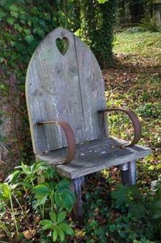 Cute little garden bench