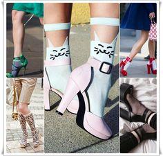 2017 Yaz Modası Topuklu Ayakkabı İçine Soket Çorap www.sosyetikcadde.com