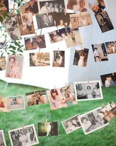 """See the """"A Look Back"""" in our A Vintage Outdoor Tent Destination Wedding in Massachusetts gallery Garland Wedding, Wedding Bells, Wedding Reception, Our Wedding, Wedding Decorations, Wedding Entrance, Reception Ideas, Wedding Centerpieces, Wedding Stuff"""