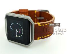 Fitbit Blaze Watch Straps , Handmade Genuine Leather Watch bands by PRIMRIA on Etsy https://www.etsy.com/listing/294001439/fitbit-blaze-watch-straps-handmade