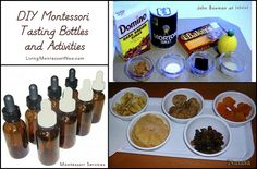 DIY Montessori Tasting Bottles and Activities (post includes the Montessori Monday link-up collection)