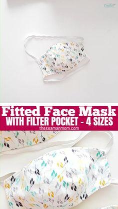 #FabricScissors Easy Face Masks, Face Masks For Kids, Diy Face Mask, Sewing Patterns Free, Free Sewing, Pattern Sewing, Pattern Fabric, Dress Patterns, Mascarilla Diy