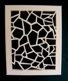 Cut out canvas. (the link to the tut doesn't work but it's pretty self-explanitory) Diy Wall Art, Diy Art, Cut Out Canvas, 3d Laser Printer, Deco Originale, Home And Deco, Canvas Patterns, Creative Crafts, Paper Art