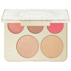 Shop Becca's Becca x Jaclyn Hill Champagne Collection Face Palette at Sephora. It features two highlighter shades and three blush shades for glowing looks.