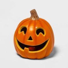 "9"" Light Up Orange Happy Face Halloween Jack-O'-Lantern (1 Tooth) - Hyde & EEK! Boutique? #Sponsored #Face, #affiliate, #Halloween, #Happy Halloween Treat Bags, Halloween Jack, Halloween Window, Halloween Outfits, Halloween Pumpkins, Happy Pumpkin Faces, Pumpkin Eyes, Pumpkin Face Carving, Disney Pumpkin Carving"